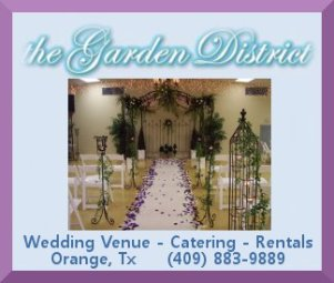 Garden District - Catering Venue - weddings SETX