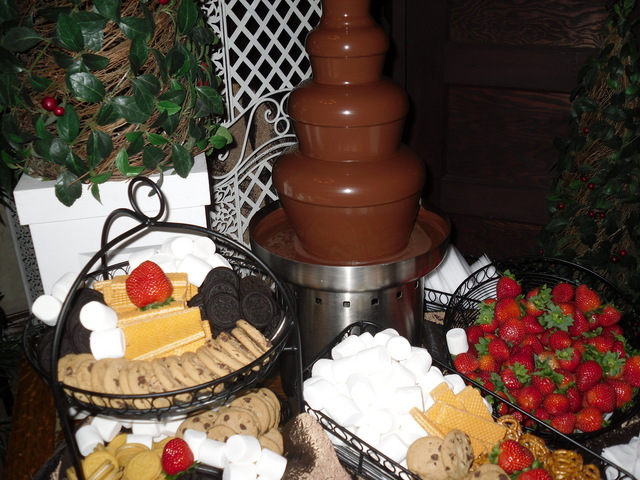 Garden District chocolate fountain 2 - SETX caterer - Orange caterer