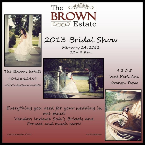 Brown Estate Bridal Show Orange Texas