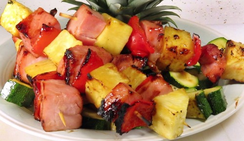 Ham and Pineapple Kabob