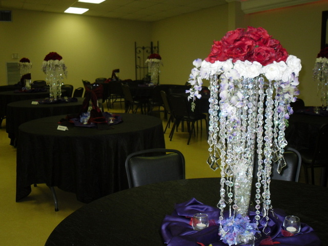 Garden District center piece - Southeast Texas wedding rental - SETX wedding rental