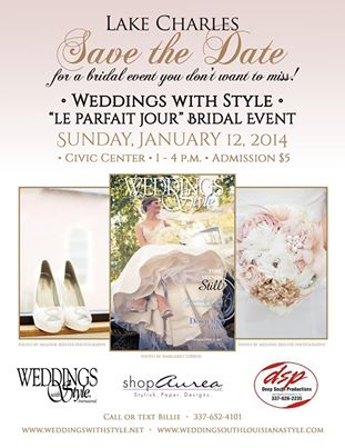 Brown Estate Lake Charles Bridal Show January 12th