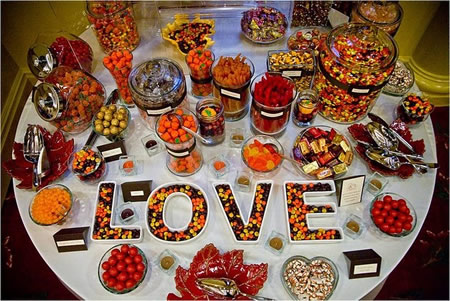 Fall wedding candy station Orange Tx
