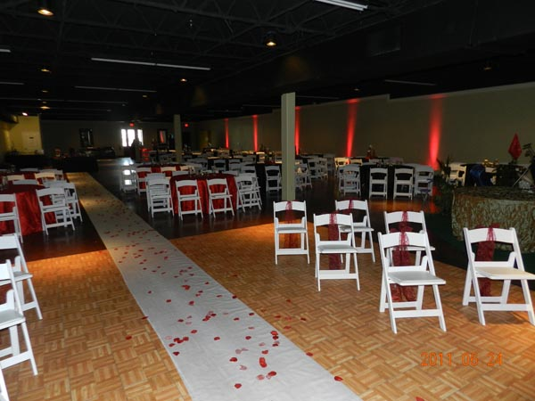 Plaza Event Center SETX Wedding decoration