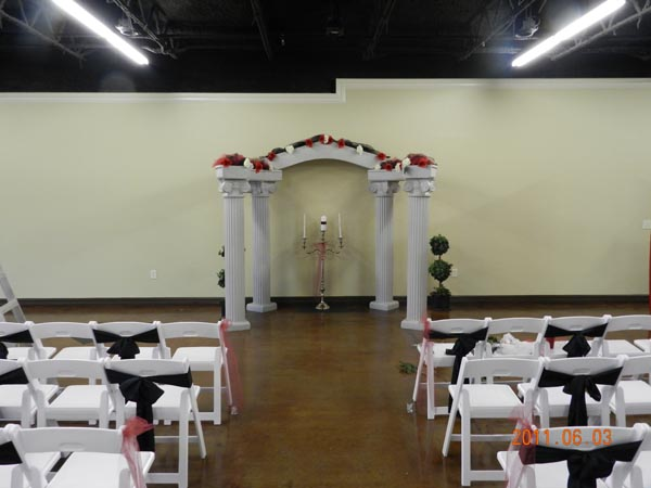 Plaza Event Center Southeast Texas Wedding Arch