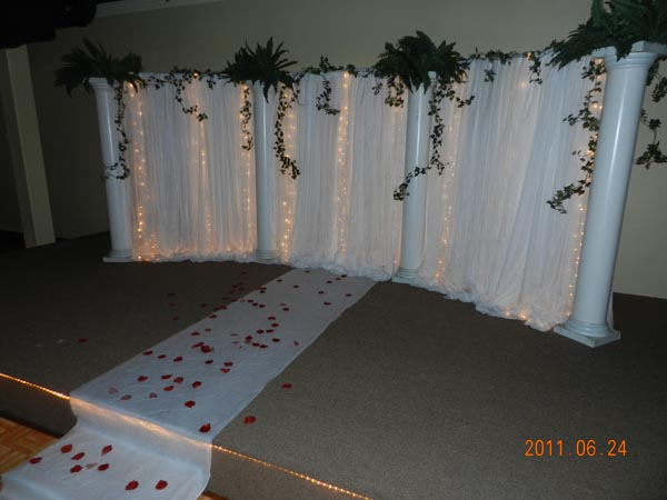 Plaza Event Center Southeast Texas wedding decoration