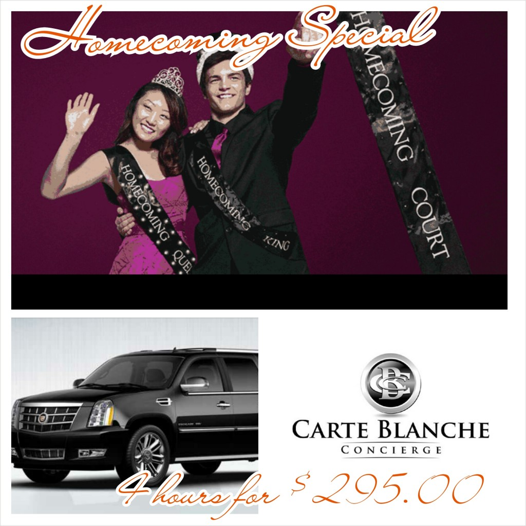 Carte Blanche Homecoming $295