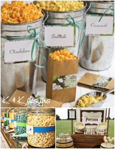 K&K Designs Beaumont Candy Popcorn Station