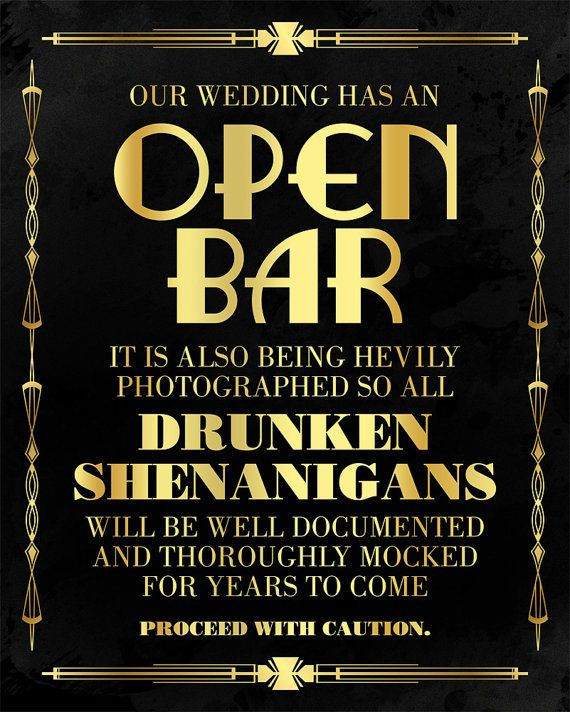 wedding open bar Crystal Beach