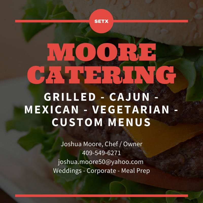Moore Catering Beaumont, caterer Beaumont, caterer Southeast Texas, SETX catering, wedding caterer Orange TX
