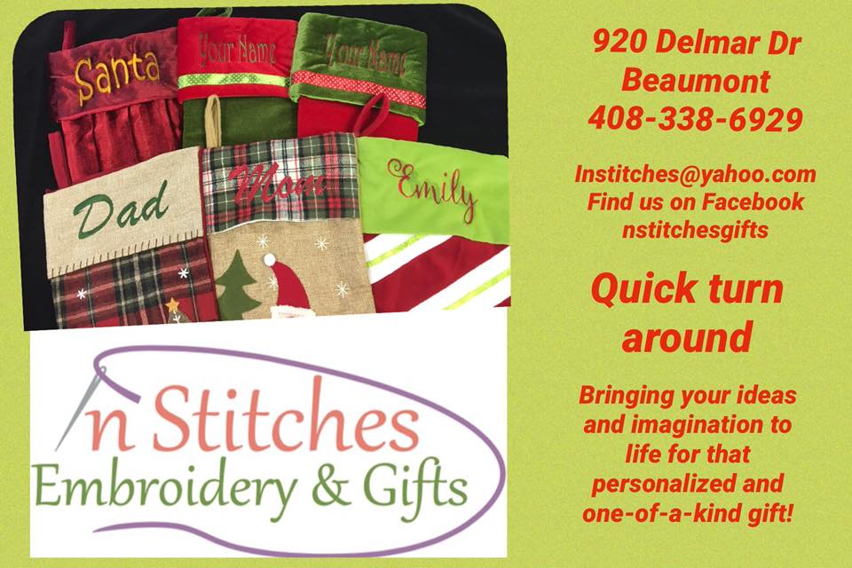 In Stitches Embroidery Beaumont Christmas Gift Ideas Setx Weddings