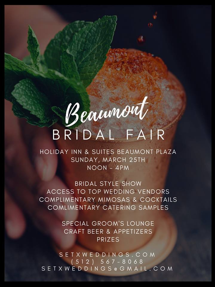 bridal fair Beaumont, Southeast Texas wedding events, Golden Triangle wedding planning, SETX wedding ideas